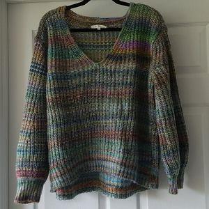 NWOT Lou & Grey for LOFT size L V-neck sweater
